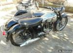 Norton ES2 with Tilbrook side car fully restored beautiful condition for Sale